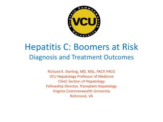 Hepatitis C: Boomers at Risk Diagnosis and Treatment Outcomes
