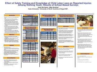 Effect of Safety Training and Knowledge of Child Labor Laws on Reported Injuries Among Working Youth: Results of School