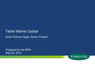 Tablet Market Update