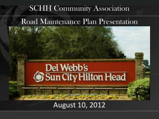 Road Maintenance Plan Presentation