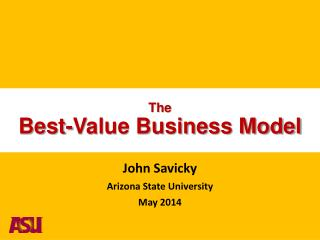 The Best-Value Business Model