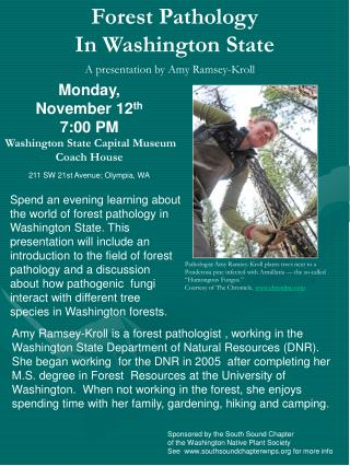 Forest Pathology  In Washington State
