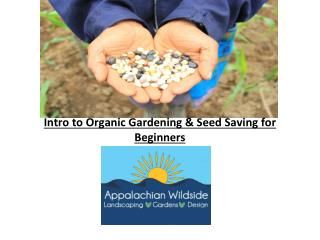 Intro to Organic Gardening & Seed Saving for Beginners