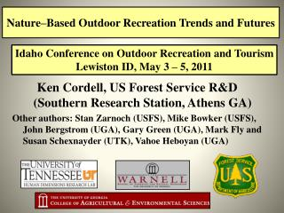 Nature–Based Outdoor Recreation Trends and Futures