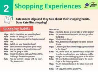 Shopping Experiences