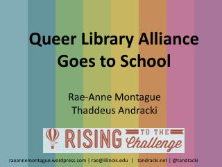 Queer Library Alliance  Goes to School