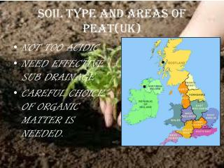 SOIL TYPE AND AREAS OF PEAT(UK)