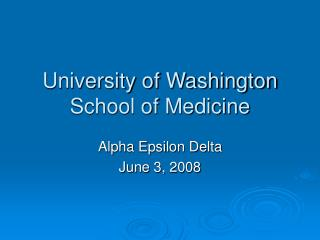 University of Washington School of Medicine