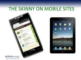 THE SKINNY ON MOBILE SITES