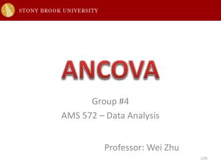 Group  #4 AMS 572 – Data  Analysis