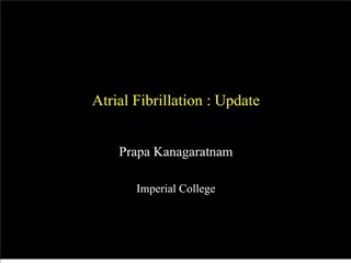 atrial fibrillation : update
