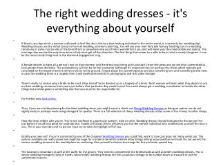 the perfect wedding dresses - it is everything about you