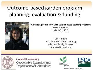 Outcome-based garden program planning, evaluation & funding