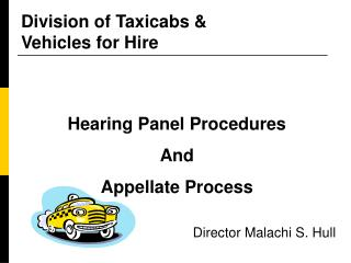 Division of Taxicabs &  Vehicles for Hire