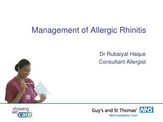 Management of Allergic  R hinitis