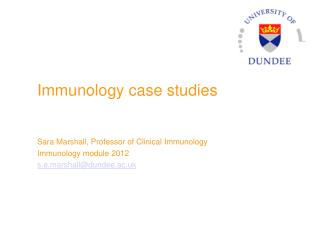 Immunology  case studies