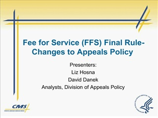 fee for service ffs final rule-changes to appeals policy