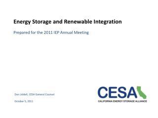 Energy Storage and Renewable Integration