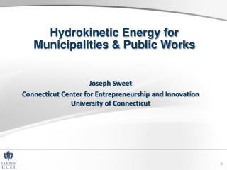 Hydrokinetic Energy for Municipalities & Public Works