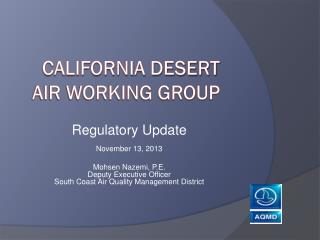 California Desert Air Working group