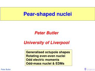 Peter Butler  University of Liverpool