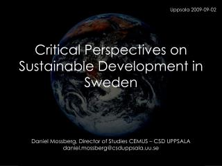 Critical Perspectives on Sustainable Development in Sweden
