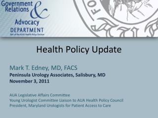 Health Policy Update