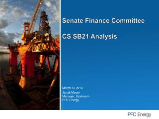 Senate Finance Committee CS SB21 Analysis