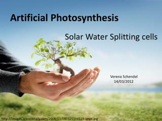Solar  Water  Splitting  cells