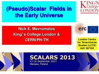 (Pseudo)Scalar  Fields in the Early Universe