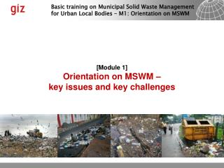 [ Module  1] Orientation on MSWM – key issues and key challenges