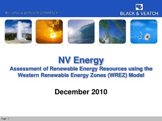 NV Energy Assessment of Renewable Energy Resources using the Western Renewable Energy Zones (WREZ) Model