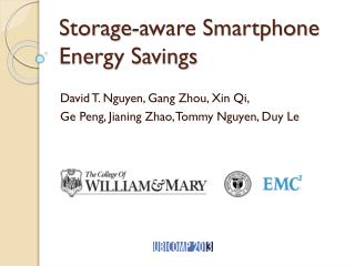 Storage-aware Smartphone Energy Savings