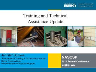 Training and Technical Assistance Update