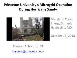Princeton University's Microgrid Operation During Hurricane Sandy