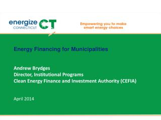Energy Financing for Municipalities
