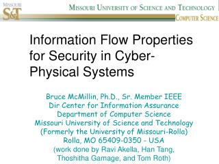 Information Flow Properties for Security in Cyber-Physical Systems