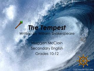 The Tempest Written by William Shakespeare