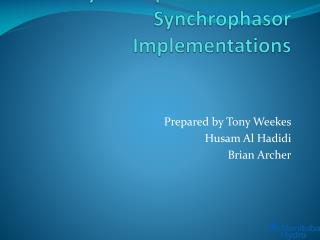 MB Hydro Experiences with Synchrophasor Implementations