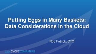 Putting Eggs in Many Baskets: Data Considerations in the Cloud