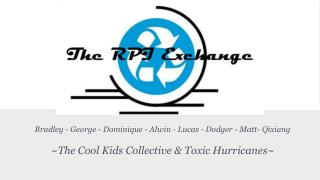 Bradley - George - Dominique - Alwin - Lucas - Dodger - Matt- Qixiang  ~The Cool Kids Collective & Toxic Hurricanes~