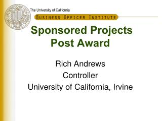 Sponsored Projects Post Award