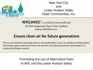New York City  and  Lower Hudson Valley  Clean Communities, Inc.