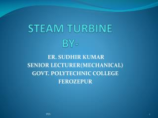 S TEAM  TURBINE BY-