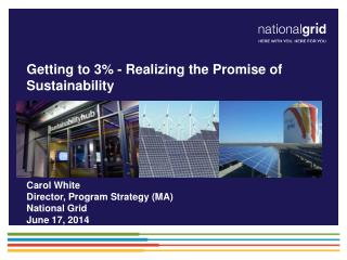 Getting to 3% - Realizing the Promise of Sustainability