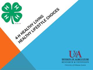 4-H Healthy Living  Healthy Lifestyle Choices