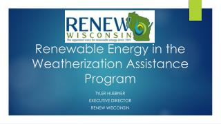 Renewable Energy in the Weatherization Assistance Program