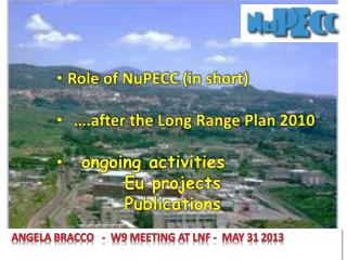 Role  of  NuPECC  (in short) … .after  the Long Range  Plan 2010 ongoing activities  Eu  projects           Publicatio