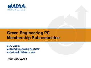 Green Engineering  PC  Membership Subcommittee