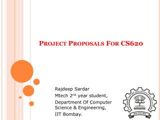 Project Proposals For CS620